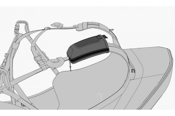 Porta emisora silla parapente
